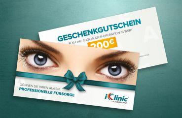 Geschenkgutschein für eine Augenlaser-Operation