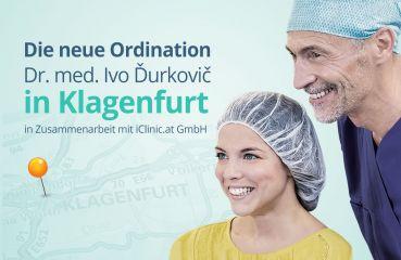 Die neue Ordination – Dr. med. Ivo Ďurkovič in Klagenfurt in Zusammenarbeit mit iClinic.at GmbH im Herzen von Kärnten